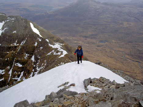 Clare Fox on Liathach