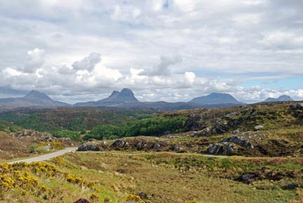 Canisp, Suilven, Cul Mor, and Cul Beag