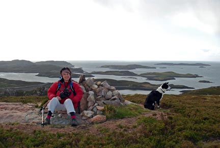 Angie on Tanera Mor, the largest of the Summer Isles.