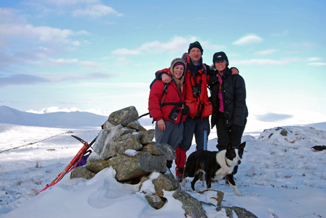 Angie, Rod and Eve (+Sally) on Glas Bheinn