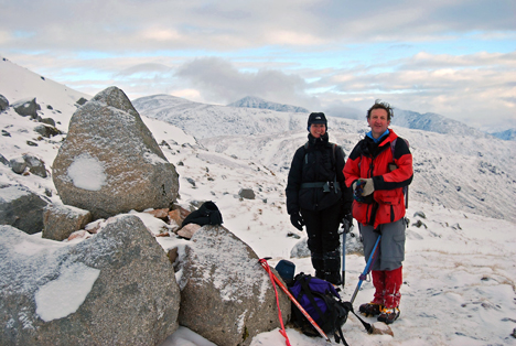 Eve & Rod on Beinn Sgulaird