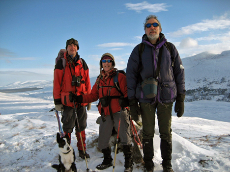 Rod, Angie & Hugh on Glas Bheinn