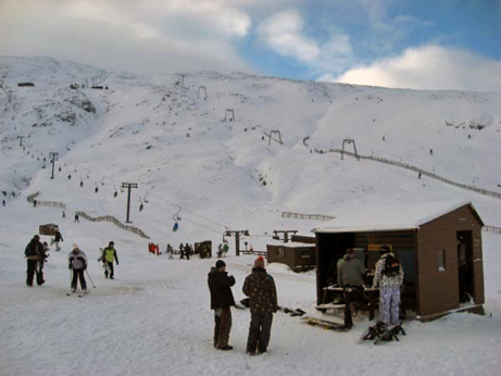 The Glencoe ski runs